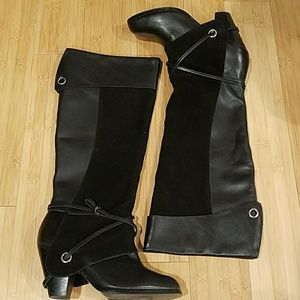 Naughty Monkey Tall Leather Boots